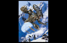 Snowboarding Fantasy STADIUM EARTH 2050 Giant Shredding Alien POSTER