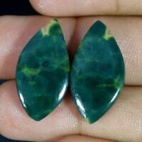 Natural Madagascar Ocean Jasper Fancy,Oval Pair Cabochon loose Gemstone HYT524