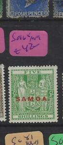SAMOA  (P2702B)  ARMS  5/-   SG 168   MOG