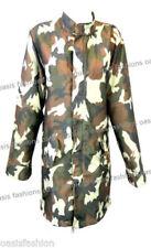 Cappotti e giacche da donna mimetici casual con bottone automatico