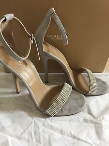 Michael Kors 2017 Collection-Silver  Jacqueline Suede Heels Size 6.5