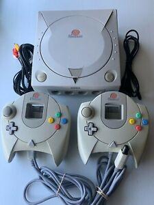 Sega Dreamcast Console Japanese Version HKT-3000 US Seller + Cords + Controllers