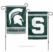12x18 Michigan State Spartans 2 Sided Double Sided Garden Flag Wall Banner