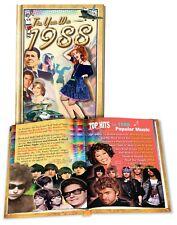 1988 Flickback Mini-Book: 30th Birthday Gift or 30th Anniversary Gift
