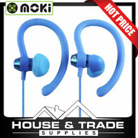 Moki Earphones Sports Ear Hooks 99dB 90° BLUE ACC-HPS90B*