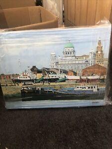 Original Acrylic Painting Of Liverpool Docks