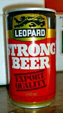 Collectable beer cans - Leopard Strong Beer 340ml crimp steel can (NZ)