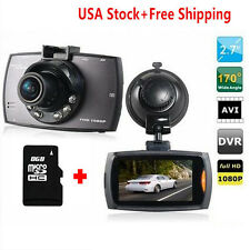 "1080P 2.7"" TFT LCD Vehicle In Car Dash Camera Video Recorder DVR Cam w/8G card"