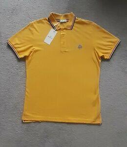 Moncler Polo Shirt XL gelb T Shirt neu
