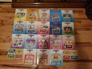 TEDDY RUXPIN Worlds of Wonder 18 Books 24 Cassette Tapes Lot