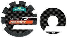 Adesivi 3D protezioni laterali carter moto compatibili KTM 1290 super adventure