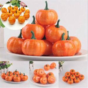 Decor Mini DIY Foam 12x Small Handwork  Simulation Artificial Halloween Pumpkin