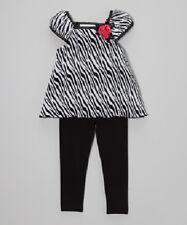 "NEW ""Zebra ROSEBUDS"" Capri Pants Girls Clothes 3T Spring Summer Boutique Kids"