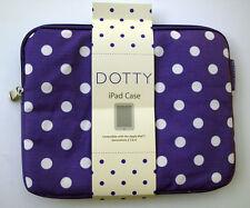 Apple iPad Bag Case Purple Dotty Polka Dot Laminated Canvas Generation 2/3/4 New