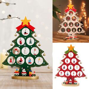 Mini Xmas Christmas Tree Ornaments Snowman Doll Toy Kids Tabletop Decorations UK