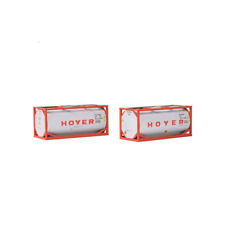 Tank Containers (Pack of 2) Hoyer (1:76 Scale) OO Gauge suit hornby oxford