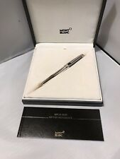 MONTBLANC 145 STERLING ARGENT GUILLOCHE SOLITAIRE FOUNTAIN PEN FINE F BOX PAPERS