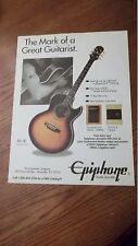 1994 PROMO AD for Epiphone PR-5E THE Mark of a Great Guitarist