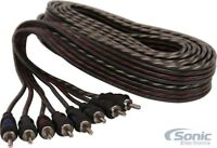 New! Belva BBIC45 5m (16.40 ft) 4-Channel RCA Car Audio Interconnect Cable (CCA)