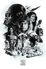 STAR WARS 40TH ANNIVERSARY MONTAGE 91.5X61CM MAXI POSTER NEW OFFICIAL MERCH