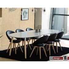 Esstisch weiss lackiert mit Naturbeinen ,  ausziehbar von 170 cm bis 270 cm