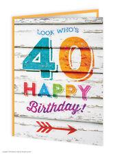 Brainbox CANDY quarantesimo anniversario auguri età CARD Divertenti Novità Cheeky BARZELLETTA UMORISMO