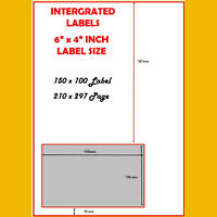 6x4 A4 INTEGRATED LABELS INVOICE PAPER STICKY ADDRESS SHEET FOR EBAY & AMAZON