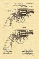 Patent Print - Smith & Wesson Revolver Locking Mechanism 1894 - Ready To Frame!