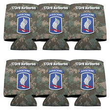 Set of 6 173rd Airborne Division Military Themed Koozies