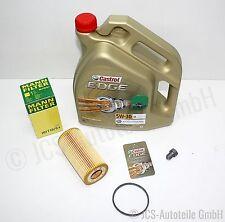 5L Castrol 5W30 EDGE FST Longlife + MANN Ölfilter HU 719/6 x AUDI/SKODA/VW/SEAT