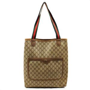 GUCCI Tote Bag Old Gucci GG Plats Beige