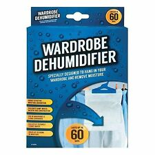 2xhanging Wardrobe Interior Dehumidifier Damp Mould Moisture Clothes
