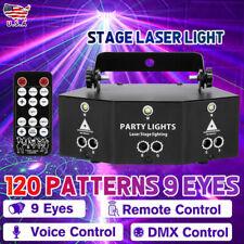 Remote LED Laser Light 9-EYE DMX Scan Projector Strobe DJ Party Stage Lights
