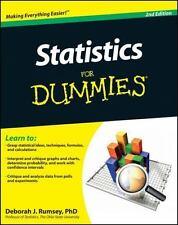 Statistics for Dummies® by Deborah J. Rumsey (2011, Paperback)