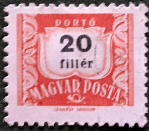 Stamp Hungary D1505 1958 Postage Due 20f Coat of Arms Used