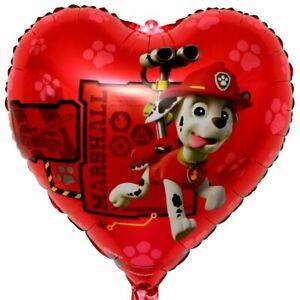 Paw Patrol Hund Marshall Helium Folienballon Feuerwehr Herz Kinder Geschenk