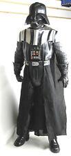 """Vintage Star Wars Darth Vader 32"""" Tall Black Hard Plastic Statue w/ Cloth Cape"""