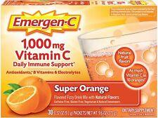 0.32 Ounce 30 Count Emergen-C 1000mg Vitamin C Powder Immune Support Fizzy Drink