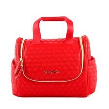 Valentino Golden Travel Kit with Hook Rosso Damen Kosmetiktasche mit Spiegel Rot
