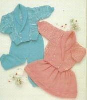 """Baby Jacket, Leggings and Skirt Knitting Pattern in DK 16-22"""" Girls Boys 1057"""