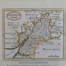More details for antique county map of gloucestershire by john seller / francis grose c 1786
