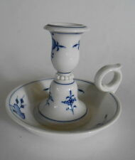 Meissen~BLUE ONION CROSSED SWORDS CANDLESTICK/CHAMBERSTICK~First Quality