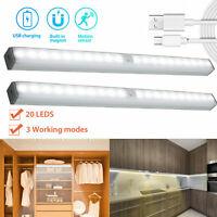 20 LED USB Rechargeable Wireless PIR Motion Sensor Closet Cabinet Night Light US