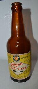 Prohibition Paper Label Schmidt's Beer St. Paul MN Malt Tonic Bottle 2% alcohol