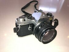 Pentax MX with Asahi Pentax-M 1:2 50mm lens and case