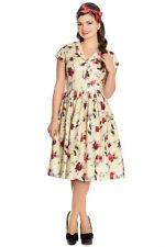 Hell Bunny Rosemary Rockabilly Swing Tea Day Dress XL-4XL