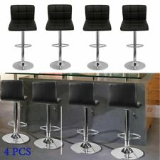 4x Top Quality Kitchen Breakfast Bar Stools Dining Coffee Restaurants Footrest 4pcs PU Leather