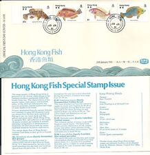 Hong Kong stamp FDC: 1981 Fish GPO Postmark Jan 28, 1981