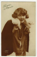1920s French Glamour PRETTY YOUNG Flapper photo postcard