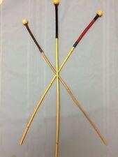 "'The Domina' Premium Rattan Punishment Cane w/balltop&suede grip-34"" L & 3/8"" D"
